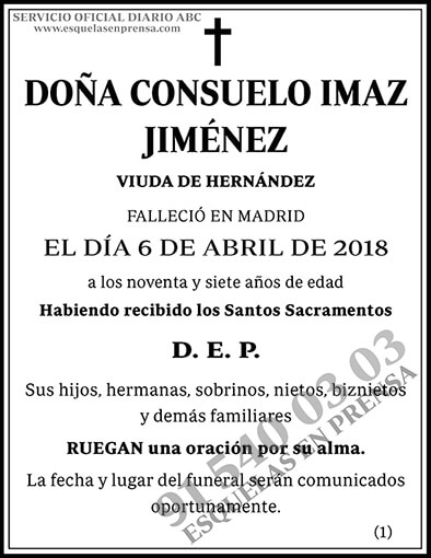 Consuelo Imaz Jiménez